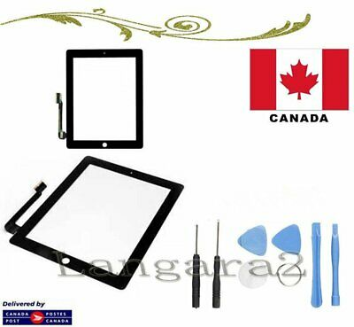Replacement For iPad 3/4 Touch Screen Glass Display Digitizer Black + Free Tools