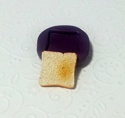 Silicone Mold Miniature Sandwich Bread Mould (17mm) Dollhouse Fake Food Clay
