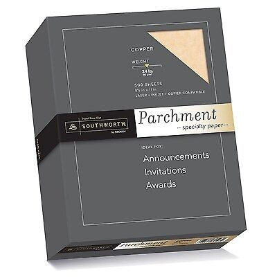 Southworth Parchment Specialty Paper,8.5 x11 inches,Copper, 24 lb,by Southworth