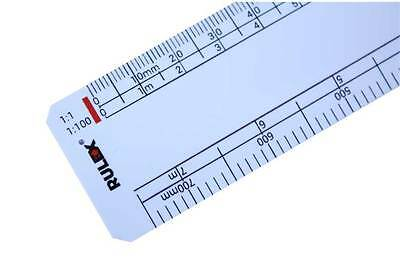 "Rulex 150mm 6"" scale ruler 1:1 1:100 1:5 1:50 1:20 1:200 1:1250 1:2500"