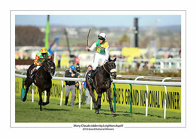 Many Clouds 2015 Grand National Leighton Aspell Horse Racing A4 Photo Aintree 3