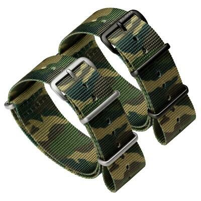 ZULUDIVER® Nylon Watch Strap NATO Military Camouflage SS IPB PVD 18mm 20mm 22mm