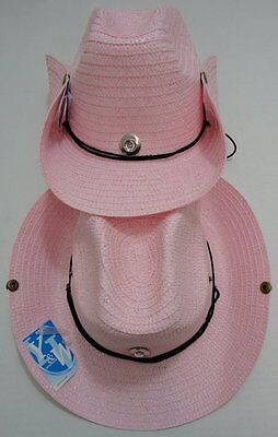 90 PINK Straw Cowboy Hats Cowgirl Womens Western Hat BULK WHOLESALE LOT