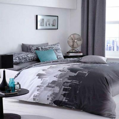 Catherine Lansfield Home City Scape Duvet Cover Set