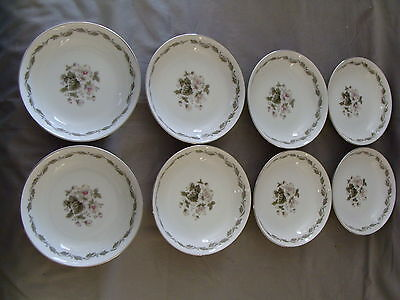 8 Vintage Fruit/Dessert Bowls By Flair Fine China of Japan, Irene #4149
