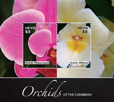 Nevis Stamp 2014 Orchids Of The Caribbean Series I Sheetlet