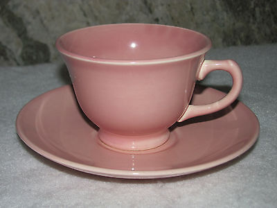Vintage TS&T Lu-Ray Pastels Sharon Pink Tea Cup Saucer Set