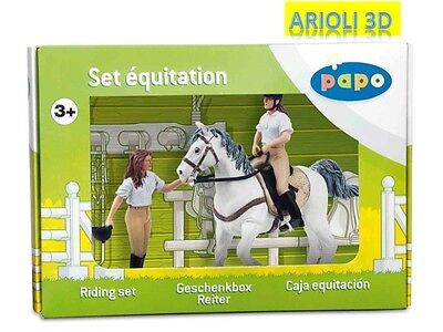 Riding Set Figures Equidae Equitation Papo New 50080 Horse Woman 52001 52002