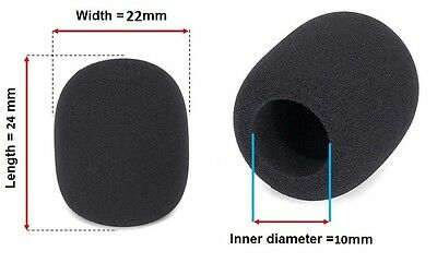 Lavalier Mic Lapel Tie Clip Microphone Foam Windscreen Windshield 10mm Diameter