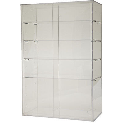 ACRYLIC CABINET Large Clear Display Box Show Case Stand Doors Adjustable Shelves