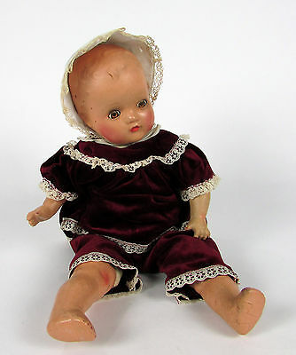 """Very Old Paper Mache Hard Plastic """" HORSMAN DOLL """" 18"""" Inch Doll"""