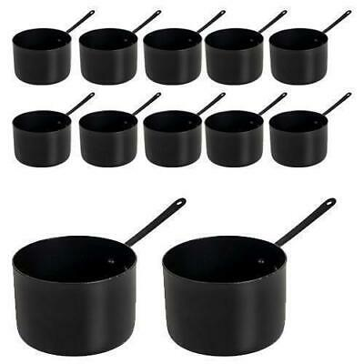 12x Serving Dish, Saucepan Style, Black, 90mm, Sides & Meals, Food Presentation