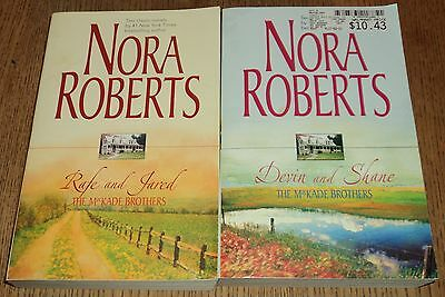 """NORA ROBERTS """"MCKADE BROTHERS"""" ROMANCE SERIE - Lot of 2 - Great Reading!!"""
