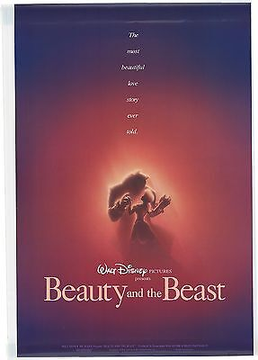 Beauty and the Beast DS advance one-sheet 27x40 original