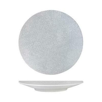 6x Round Coupe Plate, Grey Web, 235mm, Luzerne 'Zen', Commercial Quality