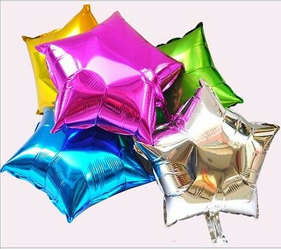 10pcs Colorful Stars Foil Balloon Birthday Wedding Party Helium Party Decor - 6A
