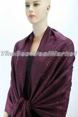 New Pashmina Scarf Shawl Wrap Cape Cashmere Silk Wool More Design & Color 61-22