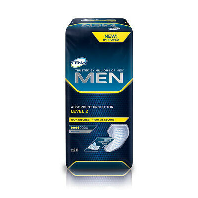 1x TENA Men Absorbent Protector - Level 2 - Pack of 20 - 200ml