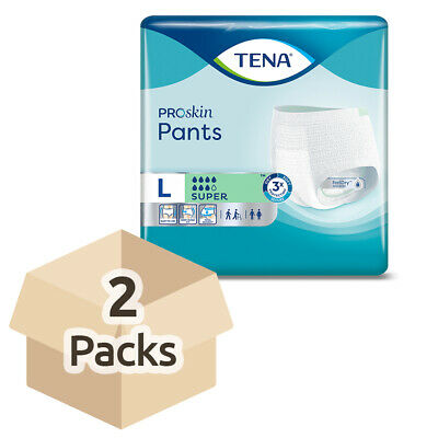 TENA Pants Super - Large - Case - 2 Packs of 12 - Incontinence Pants