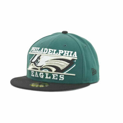 Philadelphia Eagles NFL Logo Zoom New Era 5950 Fitted Flat Bill Hat Cap  Football 964685417