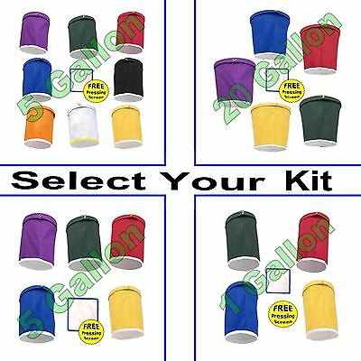 BUBBLE and ICE BAGS - Select Your Kit - 1, 5 or 20 Gallon Bag Kits