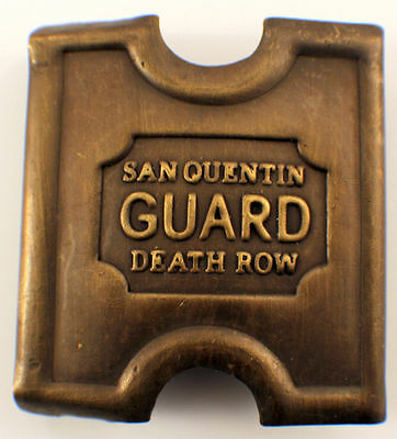 Anson Mills Belt Buckle San Quentin Guard Death Row Solid Brass Reenactments
