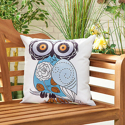 Owl Waterproof Canvas Outdoor Scatter Garden Furniture Filled Cushion Printed
