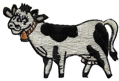 "#3508 2 3/4"" Country Farm Cow Embroidery Iron On Applique Patch"