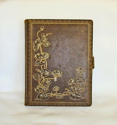 The BEST Music Box Photo Album - Tooled Leather, 2 Tunes, Fantastic Graphics WOW