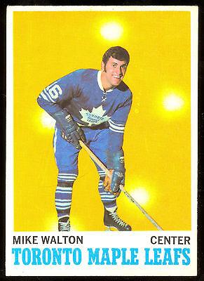 1970 71 Opc O Pee Chee 109 Mike Walton Ex-Nm Toronto Maple Leafs Hockey Card