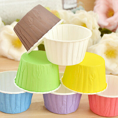 50Pcs Paper Baking Cup Cake Cupcake Cases Liners Muffin Dessert Wedding Party