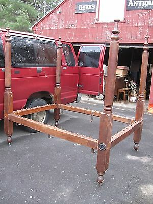 Antique High Post Canopy Rope Bed made of Walnut Heavy Post