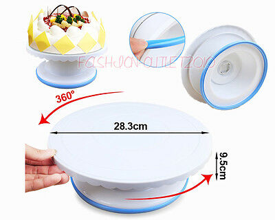 New TRIM 'N TURN ULTRA CAKE TURNTABLE CAKE DECORATING Smoother Gift for Mother