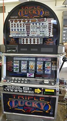 "IGT S2000 COINLESS SLOT MACHINE ""TRIPLE LUCKY 7'S 5 reel"""