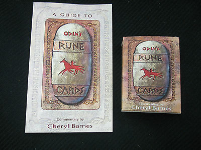 Odin's Runes cards and book set Cheryl Barnes excellent 1995