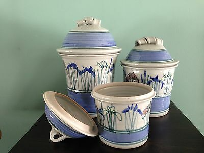 Beautiful Stoneware Pottery Canisters
