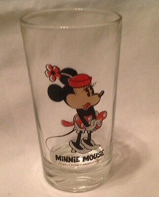 Disney Minnie Mouse in White Shoes Glass