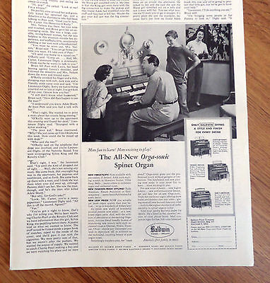 1957 The all-New Orgasonic Spinet Organ & Pianos Ad