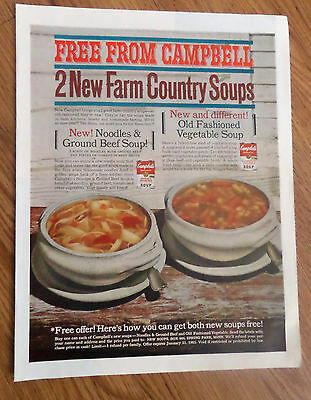 1964 Campbell's Soup Ad   Free from Campbell 2 New Farm Country Soups