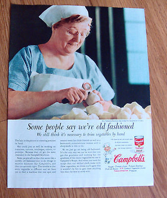 1955 Campbell's Vegetable Soup Ad Mrs Catharine Kershner Worked 19 Years