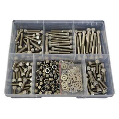 2 Kits of 270pces Socket Cap Screw M5 Stainless G304 Screw Bolt Nut Washer #8