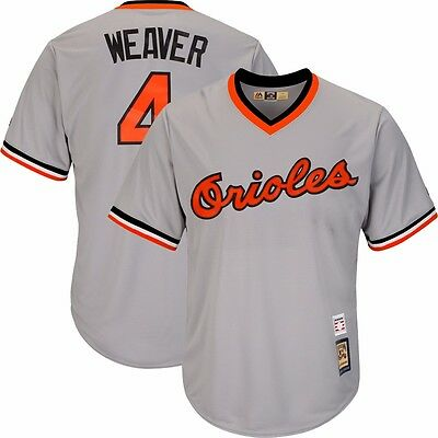 bc5718e39b3 Earl Weaver 1982 Baltimore Orioles Cooperstown Grey Road Cool Base Jersey  Men s