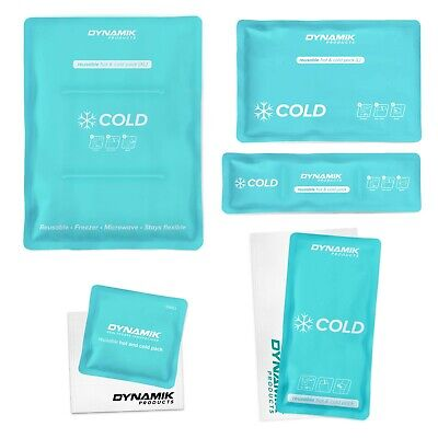Reusable Hot Cold Ice Gel Packs - Small/Medium/Large (Sleeves Sold Separately)