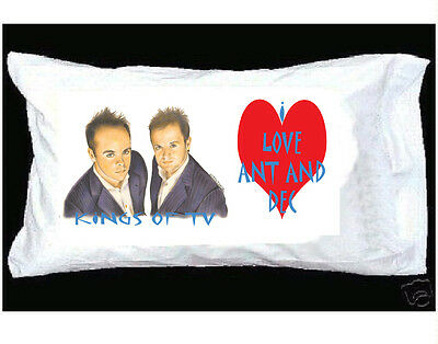 I Love Ant And Dec Pillowcase With Red Heart
