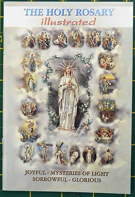 The Holy Rosary Illustrated, 24 Pages, 103 x 150mm, Softcover, Made In Italy