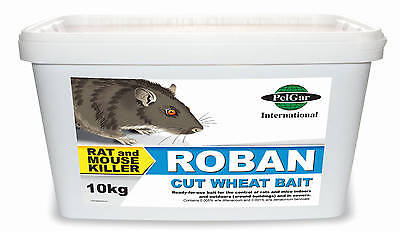 Pelgar Professional Grade Roban Cut Wheat Bait  1KG  Mouse & Rat Poison rodents