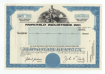 SPECIMEN - Fairchild Industries, Inc. Stock Certificate