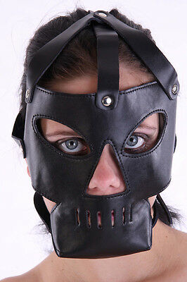 Hannibal  Leder Kopf Harness Maske / Cannibal  Leather Gimp Mask