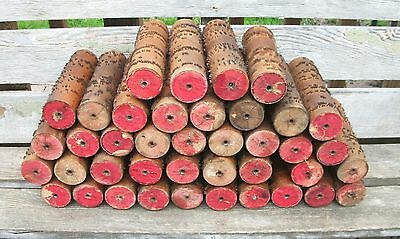 w BIG LOT of 40 Antique Wooden SONG ROLL COBS for GEM Roller Organ MUSIC BOX