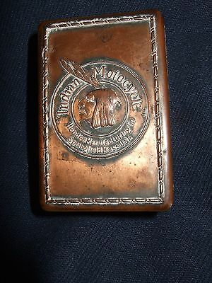 Indian motorcycle copper match box